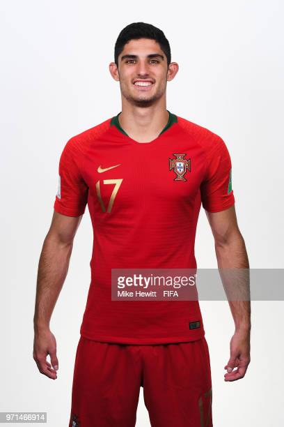 Goncalo Guedes of Portugal poses for a portrait during the official FIFA World Cup 2018 portrait session at the Saturn training base on June 10 2018...