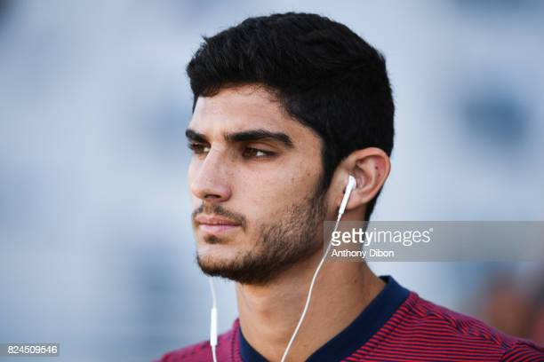 Goncalo Guedes of PSG during the Champions Trophy match between Monaco and Paris Saint Germain at Stade IbnBatouta on July 29 2017 in Tanger Morocco
