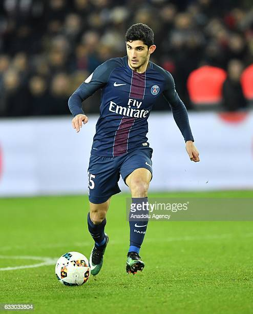 Goncalo Guedes of PSG in action during the French Ligue 1 football match between Paris SaintGermain and Monaco at the Parc des Princes Stadium in...