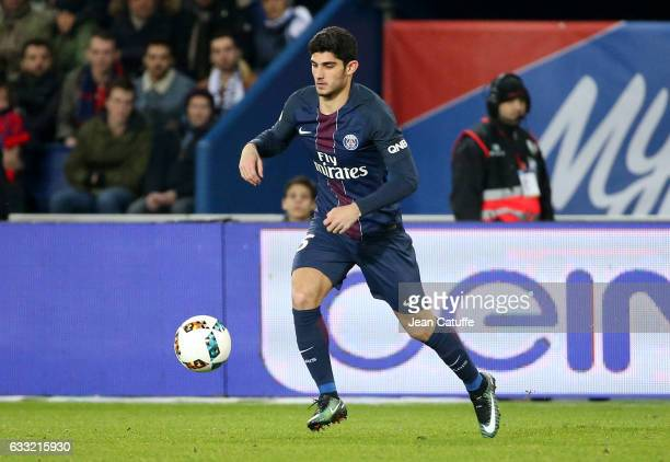Goncalo Guedes of PSG in action during the French Ligue 1 match between Paris Saint Germain and AS Monaco at Parc des Princes stadium on January 29...