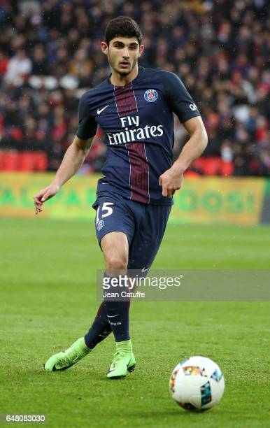 Goncalo Guedes of PSG in action during the French Ligue 1 match between Paris Saint Germain and AS Nancy Lorraine at Parc des Princes stadium on...