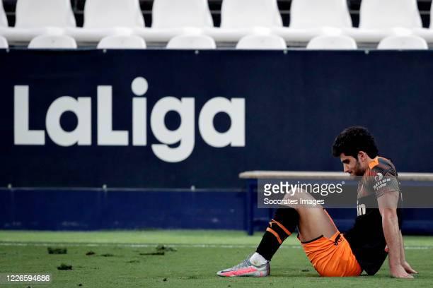Goncalo Guedes of Valencia during the La Liga Santander match between Leganes v Valencia at the Estadio Municipal de Butarque on July 12, 2020 in...