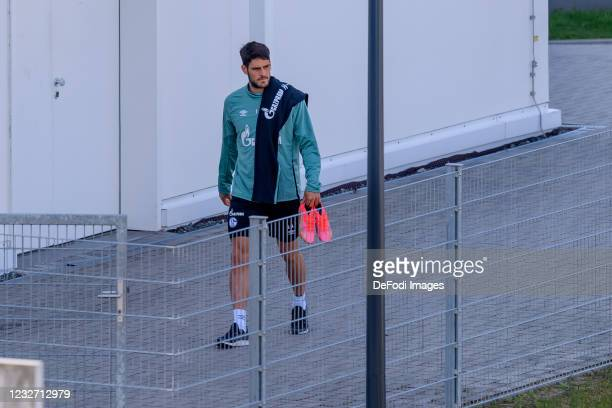 Goncalo Paciencia of FC Schalke 04 looks on during the FC Schalke 04 Training Session on May 03, 2021 in Gelsenkirchen, Germany.