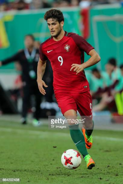 Goncalo Paciencia of Portugal controls the ball during the International Friendly match between Germany U21 and Portugal U21 at GaziStadion on March...