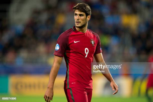 Goncalo Paciencia of Portugal looks on during the UEFA European Under21 Championship 2017 Group B match between Portugal and Spain at Gdynia Stadium...