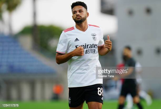 Goncalo Ramos of SL Benfica during the Pre-Season Friendly match between SL Benfica and Lille at Estadio Algarve on July 22, 2021 in Loule, Portugal.