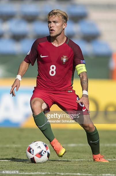 Goncalo Rodrigues of Portugal during the U19 match between Portugal and France at CarlBenzStadium on July 21 2016 in Mannheim Germany