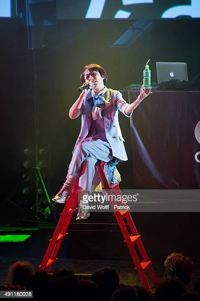 Gonchi from Charisma.com performs at Le Trianon on October 3, 2015 in Paris, France.