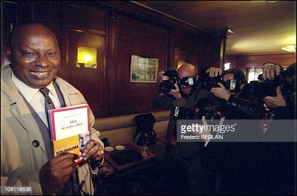 Goncourt And Renaudot Awards Ceremony On October 30Th 2000 In Paris France Ahmadou Kourouma At Flore Cafe