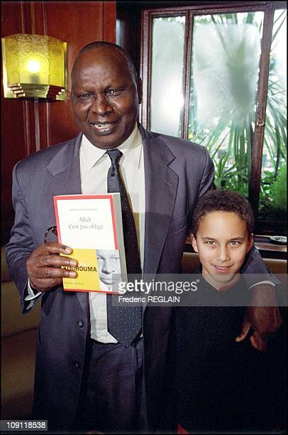 Goncourt And Renaudot Awards Ceremony On October 30Th 2000 In Paris France Ahmadou Kourouma And Francois His Grandson