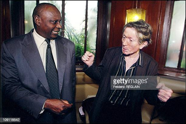 Goncourt And Renaudot Awards Ceremony On October 30Th 2000 In Paris France Ahmadou Kourouma And Jean Jacques Schuhl