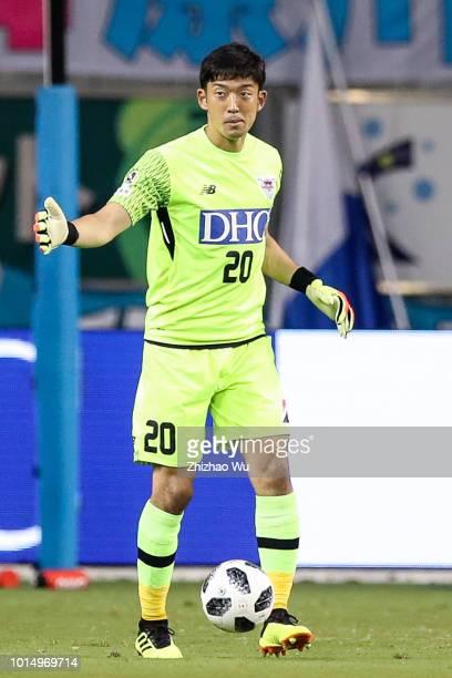Gonda Shuichi in action during the JLeague J1 match between Sagan Tosu and Urawa Red Diamonds at Best Amenity Stadium on August 11 2018 in Tosu Saga...