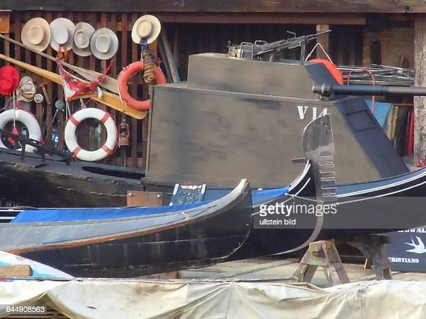 Gondeln auf der Werft aufgenommen am 13 Mai 2015 im Stadtviertel Dorsoduro in Venedig