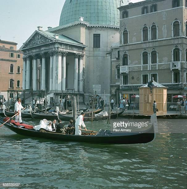 Gondola Against San Simeone Piccolo on the Canal Grande in Venice