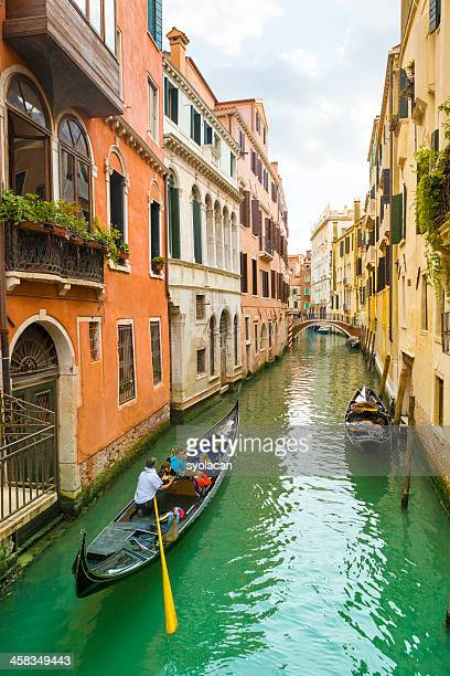gondola in venice canal - syolacan stock pictures, royalty-free photos & images