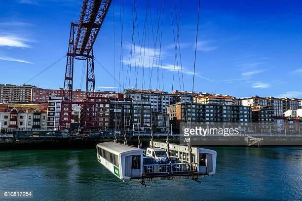 gondola of vizcaya bridge  in portugalete - bilbao - spain - ビスカヤ県 ストックフォトと画像