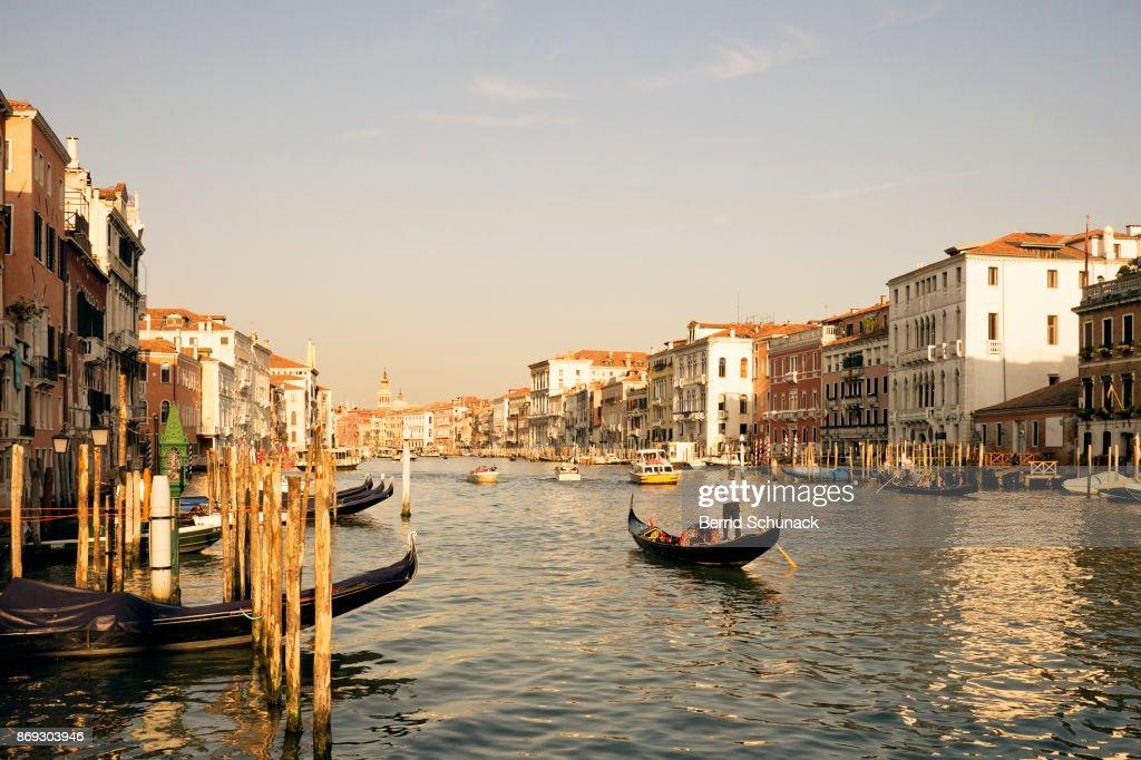 Gondola on Grand Canal : Stock-Foto