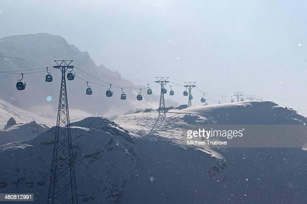 Gondola skilift in Davos, Switzerland
