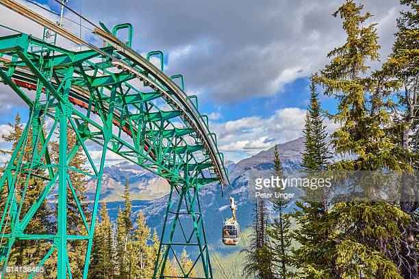 gondola to the top of sulphur mountain,banff - sulphur mountain stock pictures, royalty-free photos & images