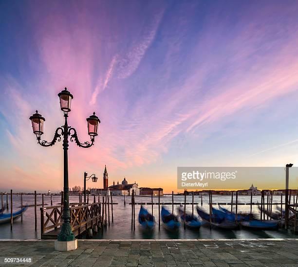 Gondolas and the Church of San Giorgio Maggiore, Venice