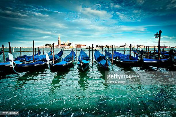 Gondolas on the Venetian Lagoon