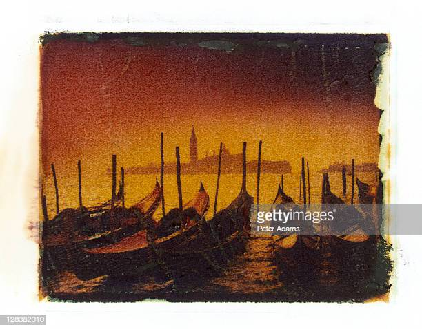 gondolas, venice, italy - peter adams stock pictures, royalty-free photos & images