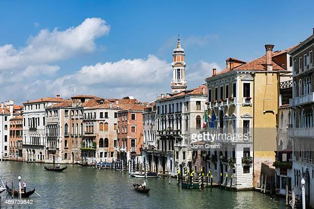 CANNAREGIO VENEZIA VENETO ITALY Gondoliers navigate the canals of Venice