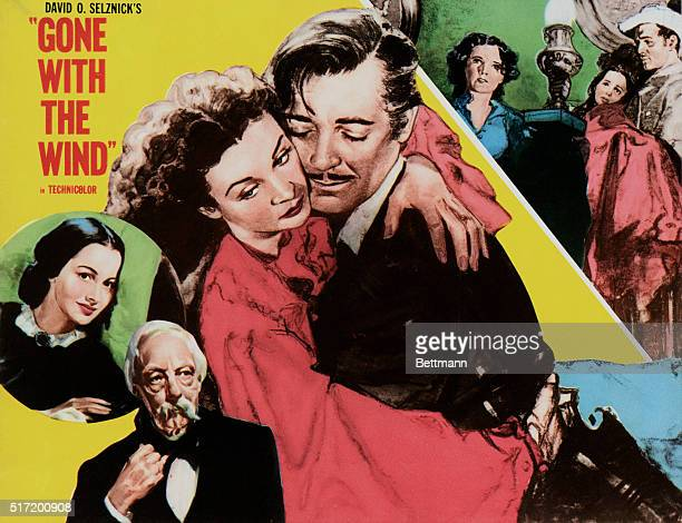 'Gone with the Wind' film poster 1939 starring Vivien Leigh and Clark Gable