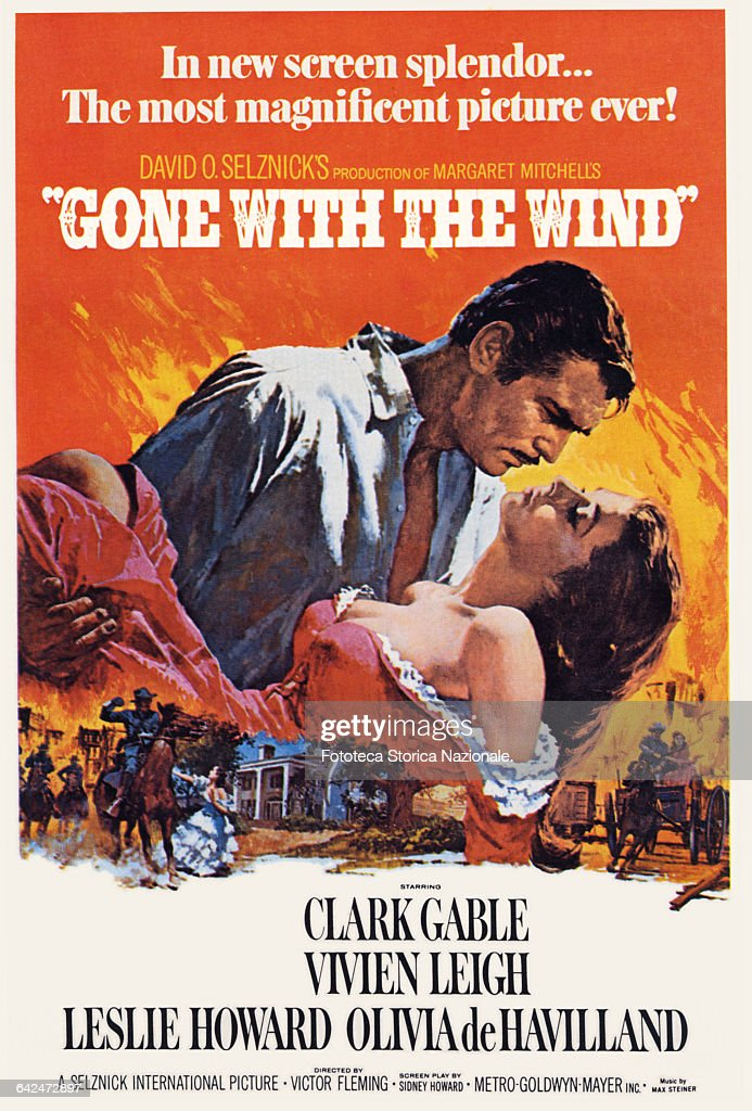 GONE WITH THE WIND THE POSTER : News Photo