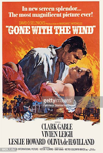 Gone with the Wind Movie poster of the film directed by Victor Fleming and starring Clark Gable and Vivien Leigh Unites States 1939