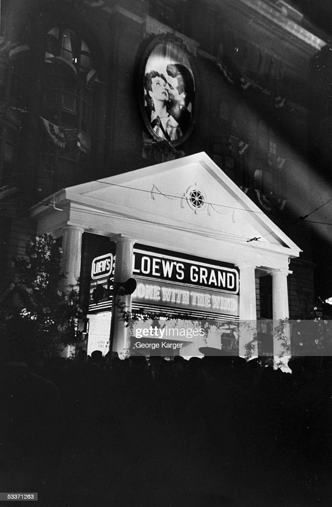 'Gone With the Wind' premiere.