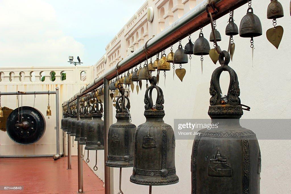 Gong and bells Golden Mount Bangkok Thailand : Photo