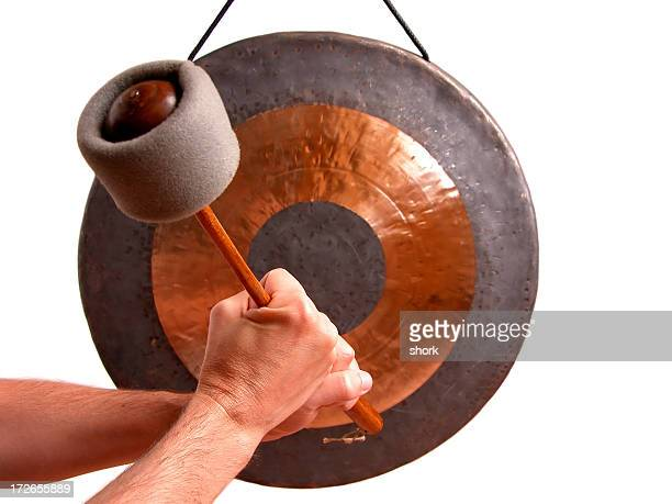 gong announcement - gong stock photos and pictures