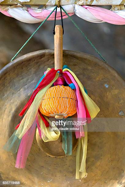 Gong hammer in a buddhist temple (thailand)
