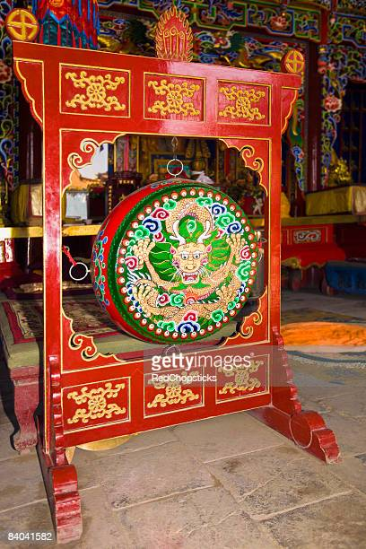 gong in a temple, da zhao temple, hohhot, inner mongolia, china - gong stock photos and pictures