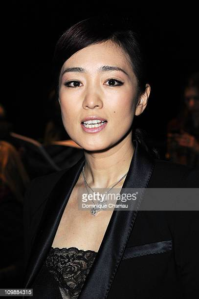 Gong Lee attends the Louis Vuitton Ready to Wear Autumn/Winter 2011/2012 show during Paris Fashion Week at Cour Carree du Louvre on March 9, 2011 in...