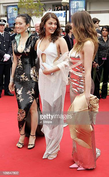 Gong Li Aishwarya Rai and Laetitia Casta during 2004 Cannes Film Festival 'The Bad Education' Opening Night at Palais Du Festival in Cannes France