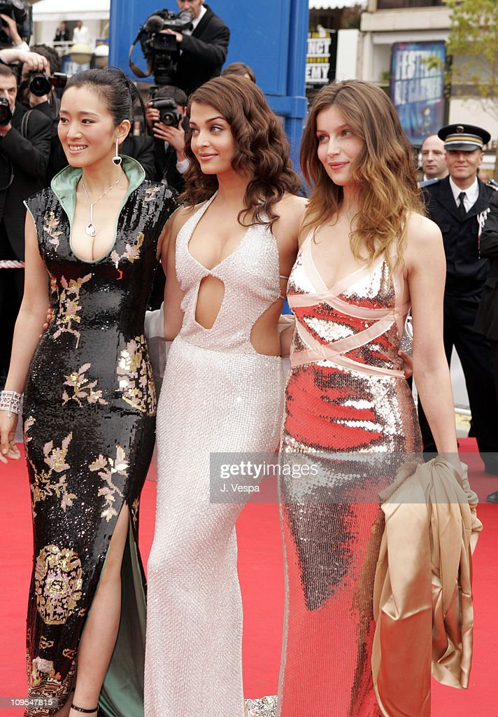 Gong Li Aishwarya Rai and Laetitia Casta during 2004 Cannes Film Festival 'The Bad Education' Opening Night at Palais Du Festival in Cannes Fr