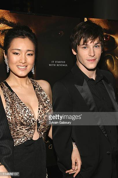 Gong Li and Gaspard Ulliel during MetroGoldwynMayer Pictures' and The Weinstein Company's Premiere of 'Hannibal Rising' Inside Arrivals at AMC Loews...