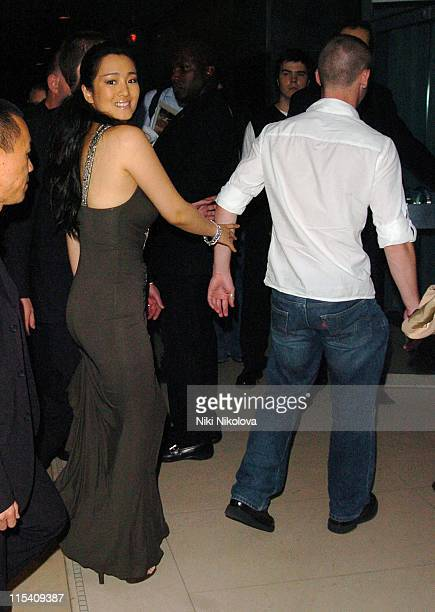 Gong Li and guest during Miami Vice London Premiere After Party at Sanderson Hotel in London Great Britain