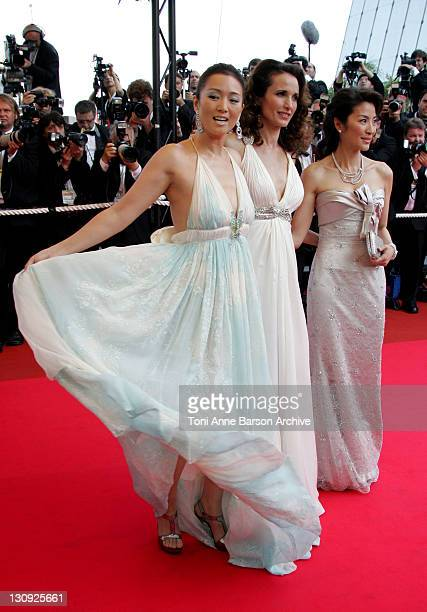 Gong Li Andie MacDowell and Michelle Yeoh during 2007 Cannes Film Festival 'Chacun Son Cinema' All Directors Premiere at Palais des Festival in...