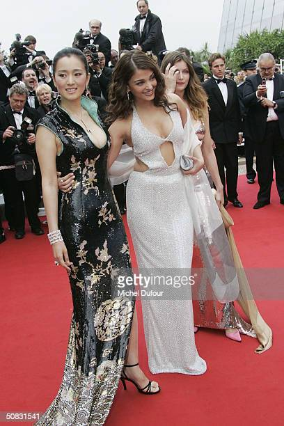Gong Li Ashra Rai and Laetitia Casta attend the 57th Cannes Film Festival Opening Ceremony and screening of opening film 'La Mala Educacion' at the...