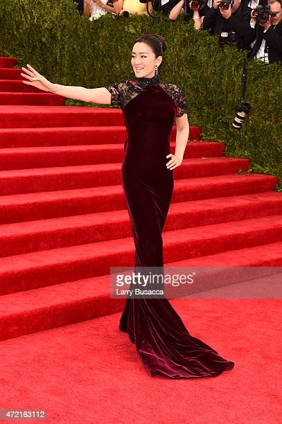 Gong Li attends the China Through The Looking Glass Costume Institute Benefit Gala at the Metropolitan Museum of Art on May 4 2015 in New York City