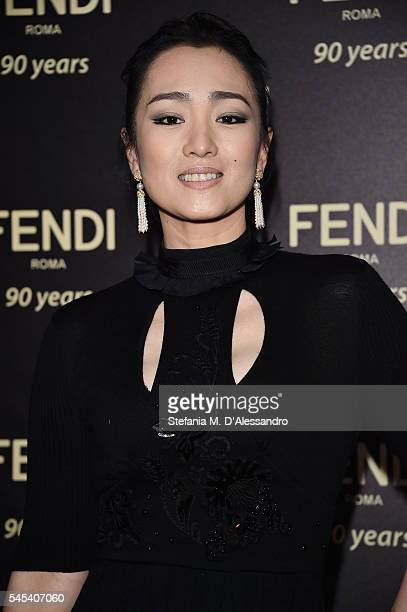 Gong Li attends the Fendi Roma 90 Years Anniversary Welcome Cocktail at Palazzo Carpegna on July 7 2016 in Rome Italy