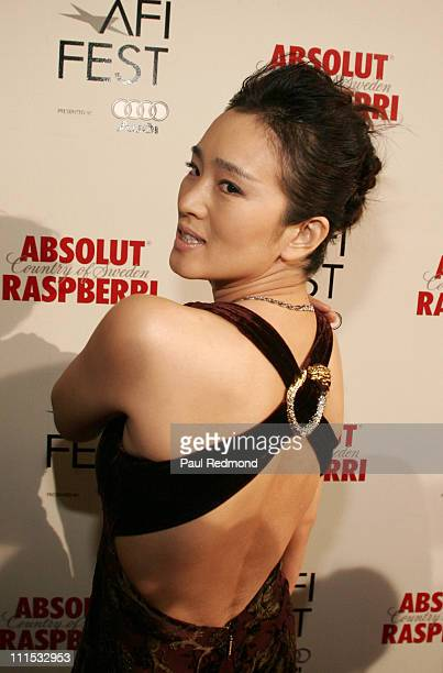 Gong Li during AFI Fest 2006 Presented by Audi Closing Night Gala Presentation of Zhang Yimou's 'Curse of the Golden Flower' at Cinerama Dome in...