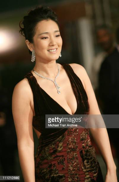 Gong Li during AFI Fest 2006 Presents Curse of The Golden Flower Los Angeles Premiere Arrivals at Cinerama Dome in Los Angeles California United...