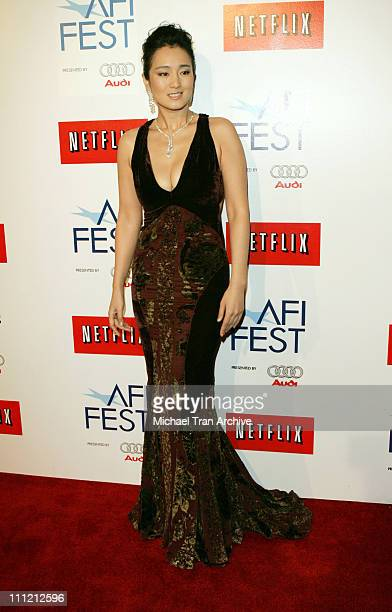 Gong Li during AFI Fest 2006 Presents 'Curse of The Golden Flower' Los Angeles Premiere Arrivals at Cinerama Dome in Los Angeles California United...