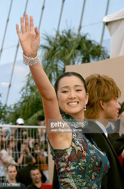 Gong Li during Cannes Film Festival 2004 '2046' Premiere at Palais des Festivals in Cannes France