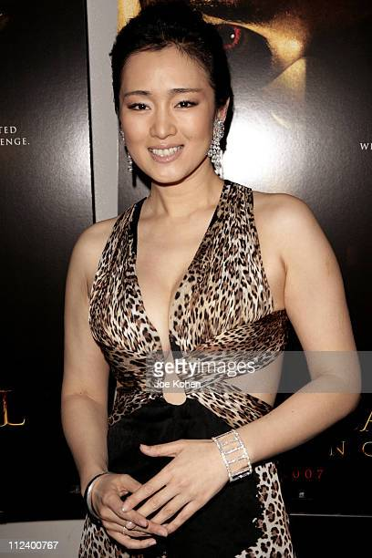 Gong Li during 'Hannibal Rising' New York City Premiere Red Carpet at AMC Loews Lincoln Square in New York City New York United States