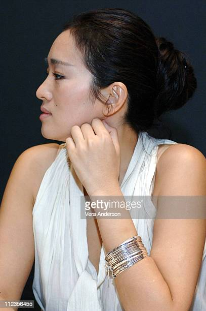 Gong Li during Memoirs of a Geisha Press Conference with Michelle Yeoh and Gong Li at Waldorf Astoria Hotel in New York City New York United States